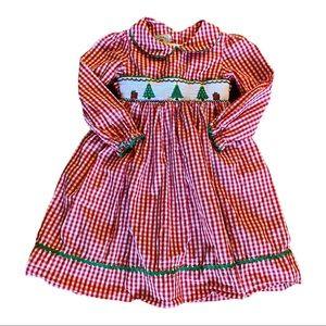 Marmellata Smocked Gingham Christmas Dress Size 6